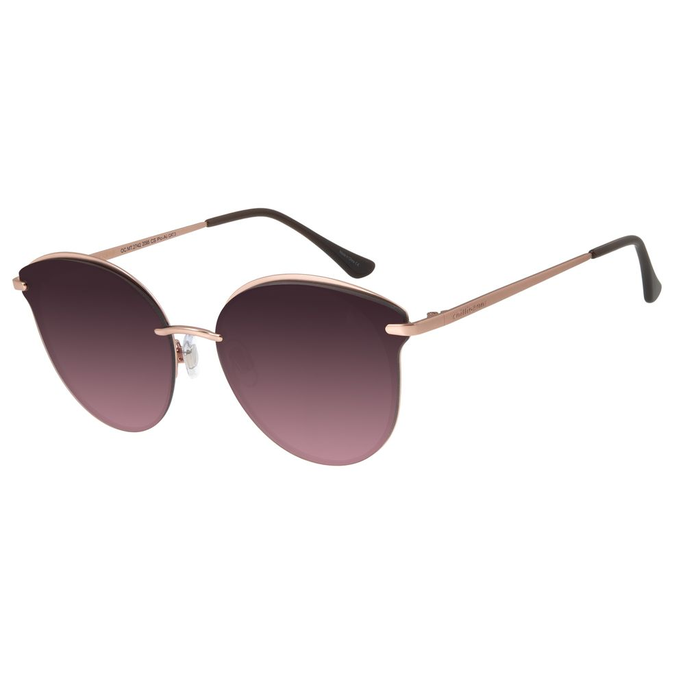 Óculos de Sol Feminino Chilli Beans Redondo Rosê Polarizado OC.MT.2742-2095