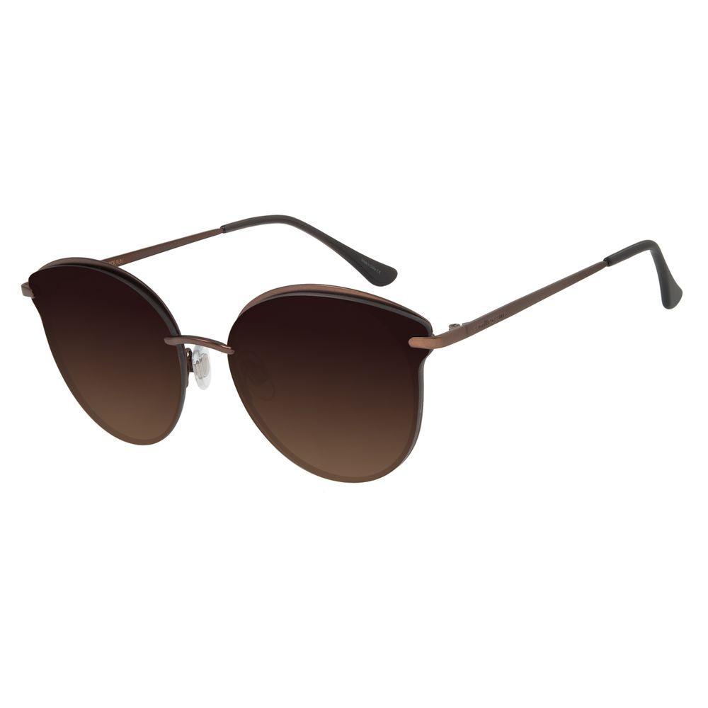 Óculos de Sol Feminino Chilli Beans Redondo Marrom Polarizado OC.MT.2742-5702
