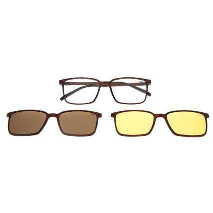 Armação Para Óculos De Grau Masculino Chilli Beans Multi Marrom LV.MU.0298-0202