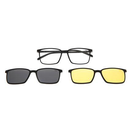 Armação Para Óculos De Grau Masculino Chilli Beans Multi Preto LV.MU.0298-0101