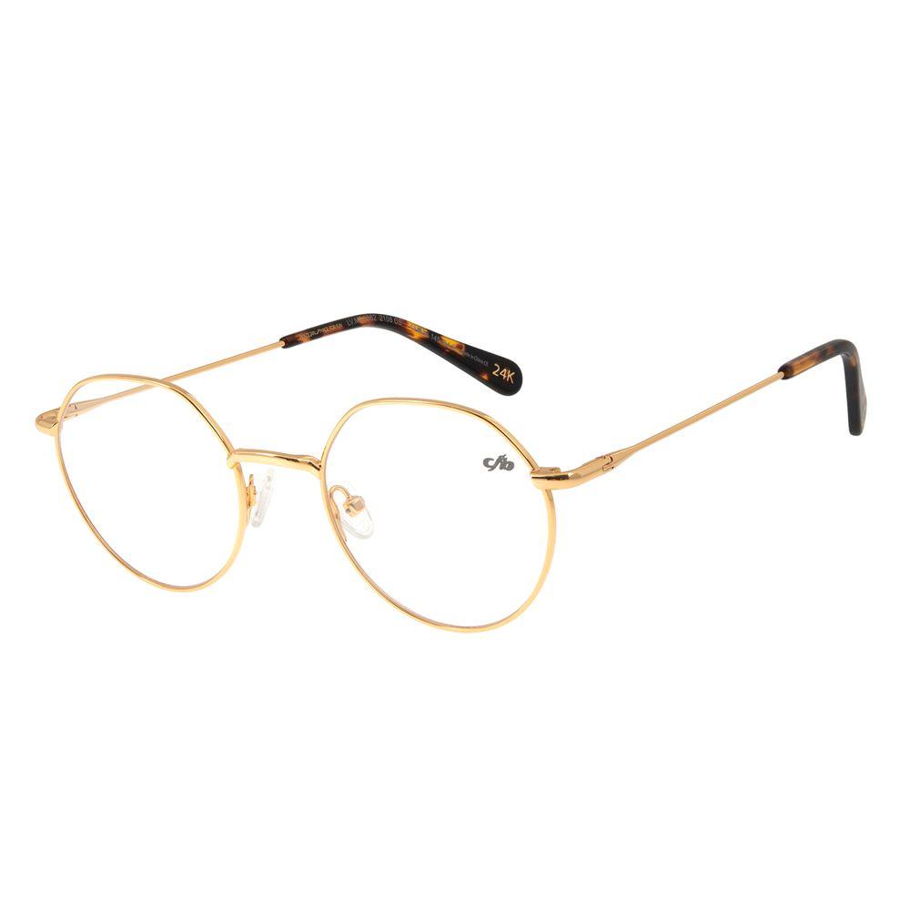 Armação Para Óculos De Grau Feminino Chilli Beans Banhado A Ouro Sol Dourado LV.MT.0382-2106