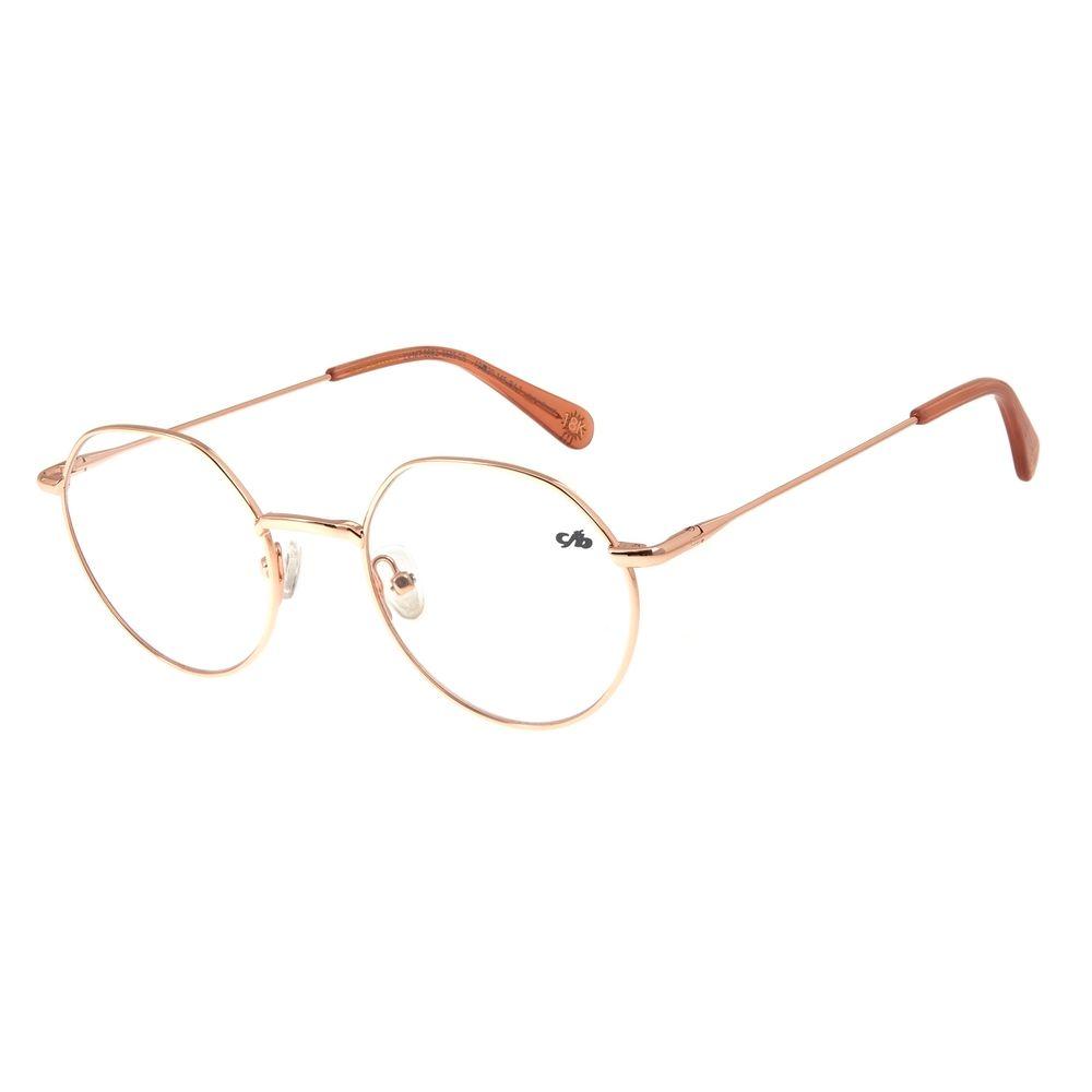 Armação Para Óculos De Grau Feminino Chilli Beans Banhado A Ouro Sol Rosê LV.MT.0382-9595