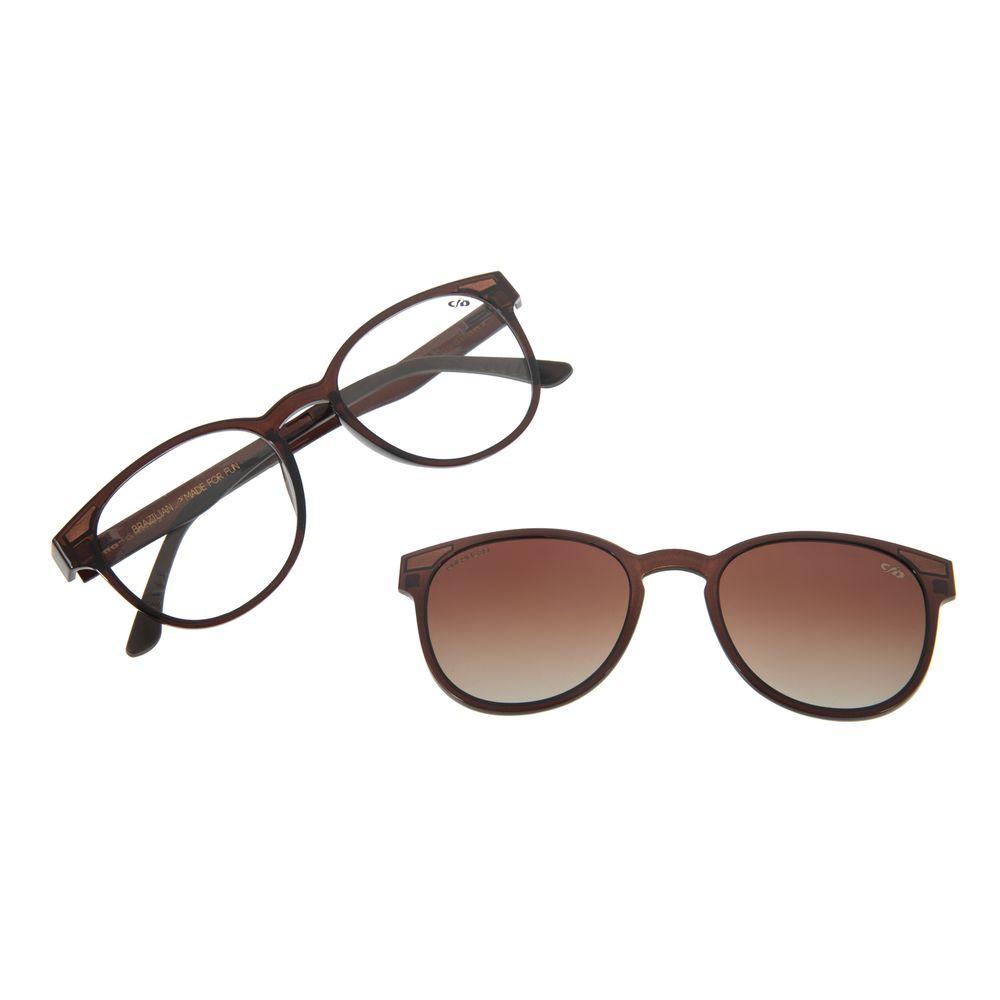 Armação Para Óculos Grau Feminino Chilli Beans Multi Marrom Escuro Polarizado LV.MU.0020-2002