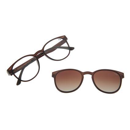 Armação Para Óculos Grau Feminino Chilli Beans Multi Marrom Escuro LV.MU.0020-2002