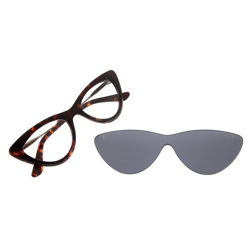 Armação Para Óculos Grau Feminino Chilli Beans Multi Gatinho Marrom LV.MU.0203-0406