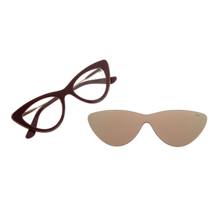 Armação Para Óculos Grau Feminino Chilli Beans Multi Gatinho Vermelho LV.MU.0203-9516