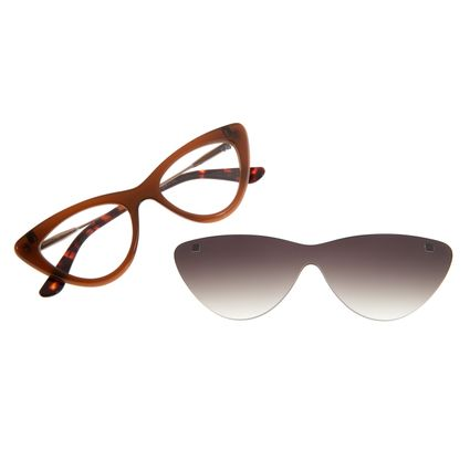 Armação Para Óculos Grau Feminino Chilli Beans Multi Gatinho Marrom LV.MU.0203-2002