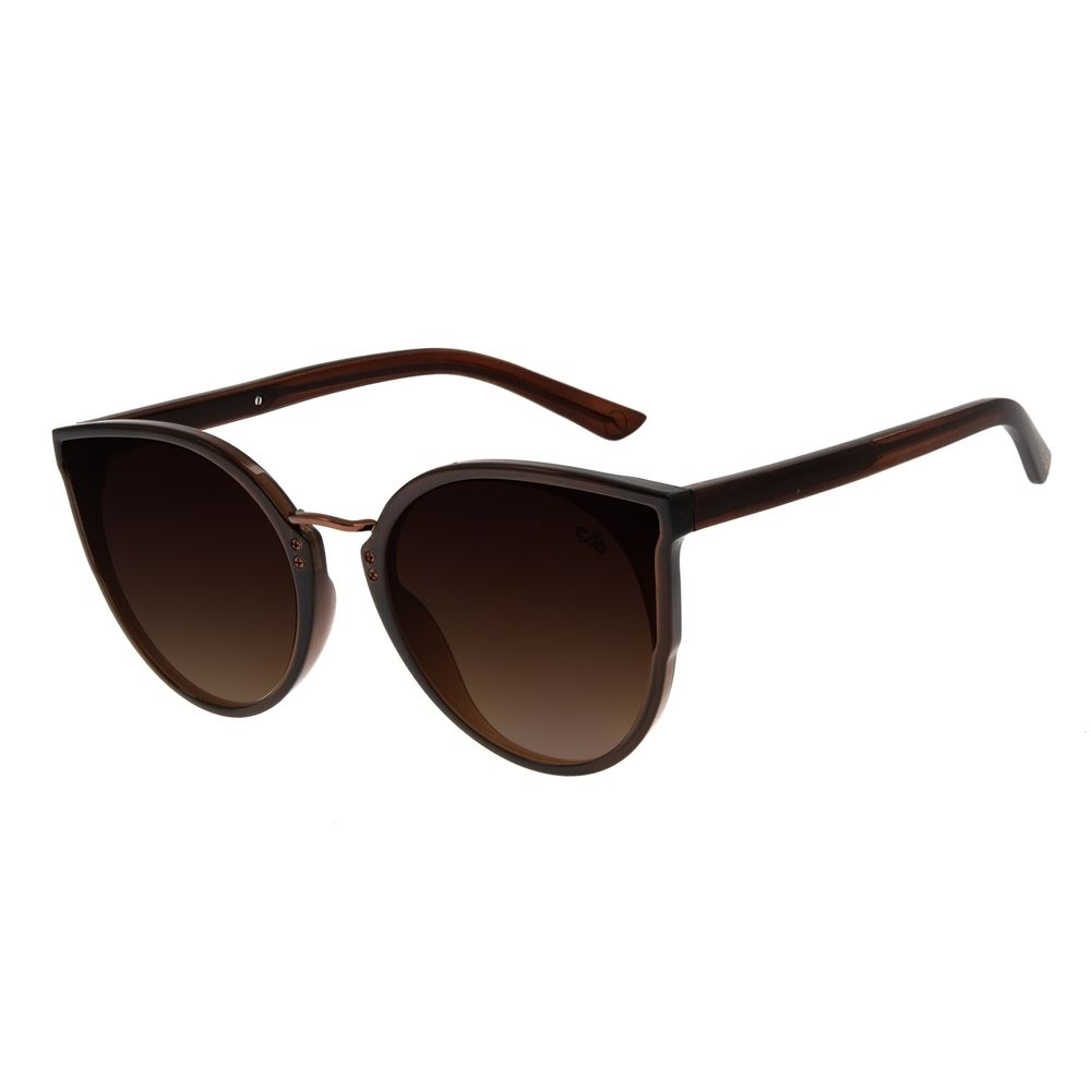 Óculos de Sol Feminino Chilli Beans Marrom Signos Doze Casas OC.CL.2899-5702