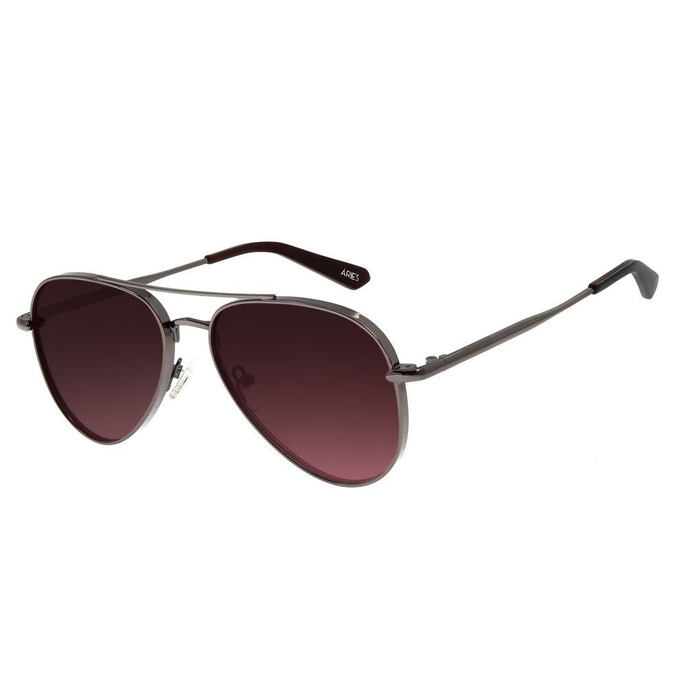Óculos de Sol Unissex Chilli Beans Signos Áries Aviador Ônix OC.MT.2743-5722