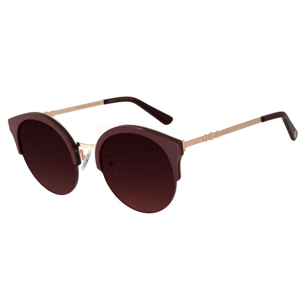 Óculos de Sol Feminino Chilli Beans Signos Lua Vinho OC.MT.2744-2017