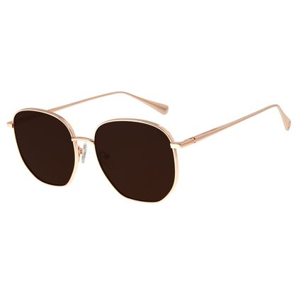 Óculos de Sol Feminino Signos Sol Banhado A Ouro Rosê OC.MT.2745-0295