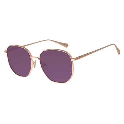 Óculos de Sol Feminino Signos Sol Banhado A Ouro Roxo OC.MT.2745-1495