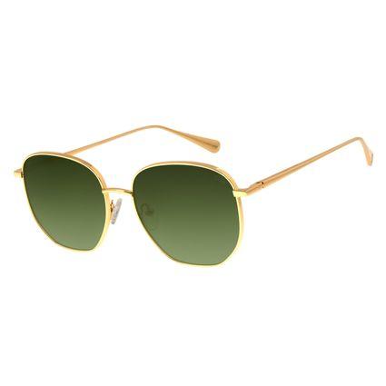 Óculos de Sol Feminino Signos Sol Banhado A Ouro Dourado OC.MT.2745-8221