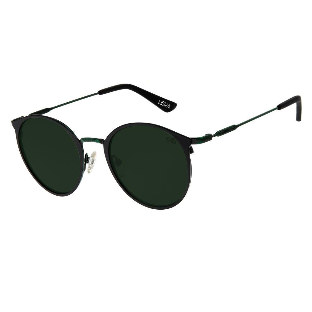 Óculos de Sol Unissex Chilli Beans Redondo Preto Signos Libra OC.MT.2746-1501