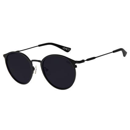 Óculos de Sol Unissex Chilli Beans Redondo Preto Signos Gêmeos OC.MT.2746-0101