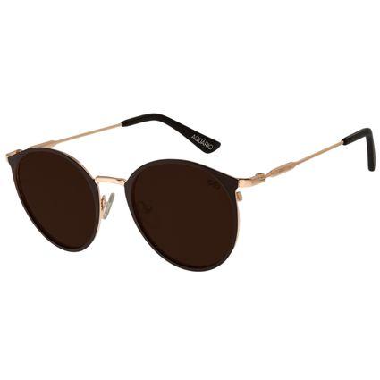 Óculos de Sol Unissex Chilli Beans Redondo Marrom Signos Aquário OC.MT.2746-0202