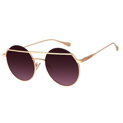 Óculos de Sol Feminino Chilli Beans Redondo Rosê Signos Saturno OC.MT.2747-2095