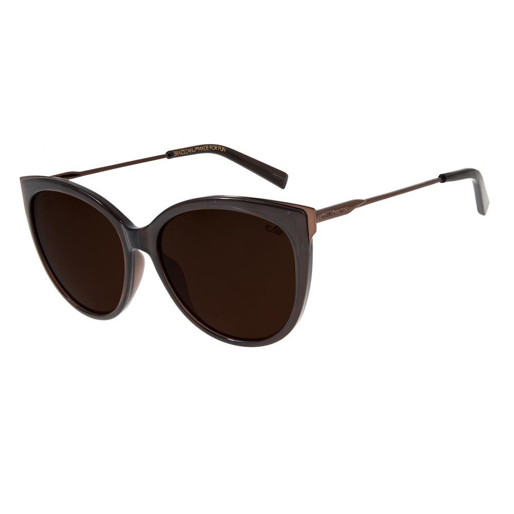 Óculos de Sol Feminino Chilli Beans Redondo MarromOC.CL.2455-0202