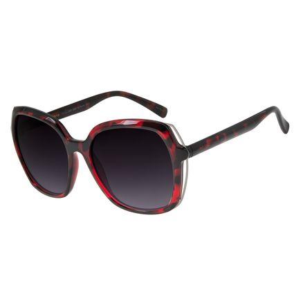 Óculos de Sol Feminino Chilli Beans Quadrado Oversized Tartaruga OC.CL.2860-2006