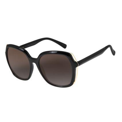 Óculos de Sol Feminino Chilli Beans Quadrado Oversized Preto OC.CL.2860-0001