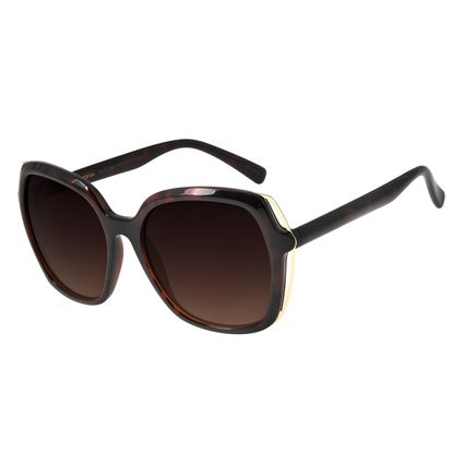Óculos de Sol Feminino Chilli Beans Quadrado Oversized Marrom OC.CL.2860-5702