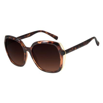 Óculos de Sol Feminino Chilli Beans Quadrado Oversized Tartaruga OC.CL.2860-5706