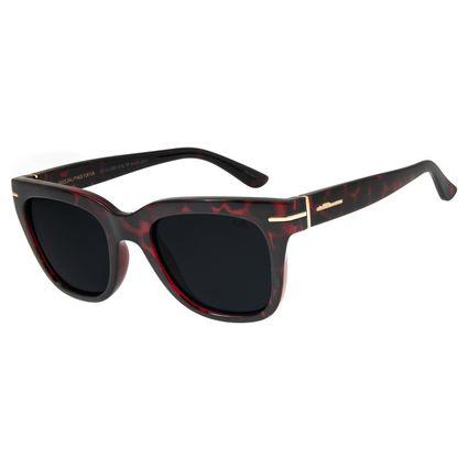 Óculos de Sol Feminino Chilli Beans Quadrado Tartaruga Polarizado OC.CL.2862-0106