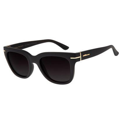 Óculos de Sol Feminino Chilli Beans Quadrado Marrom Escuro Polarizado OC.CL.2862-0447