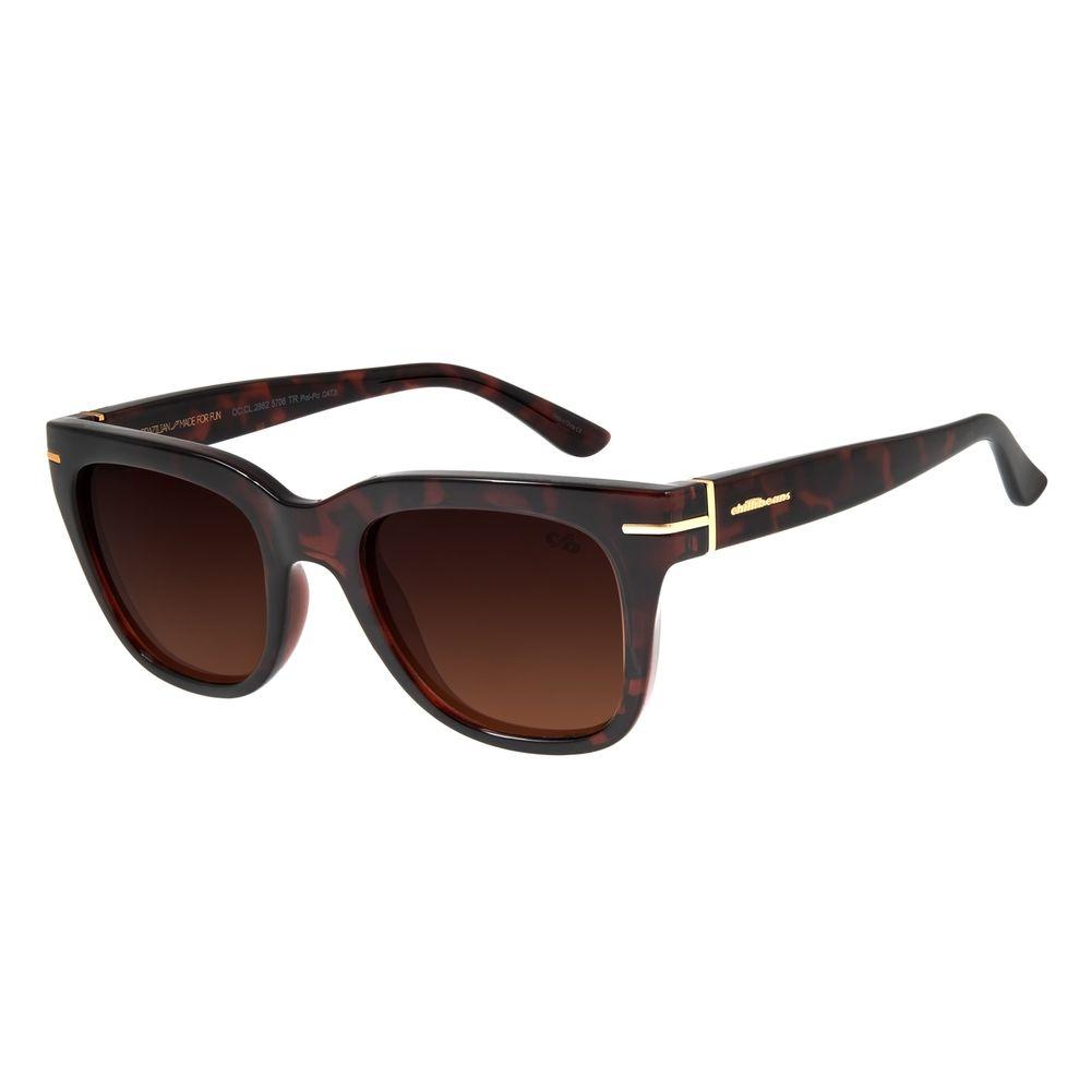 Óculos de Sol Feminino Chilli Beans Quadrado Tartaruga Polarizado OC.CL.2862-5706