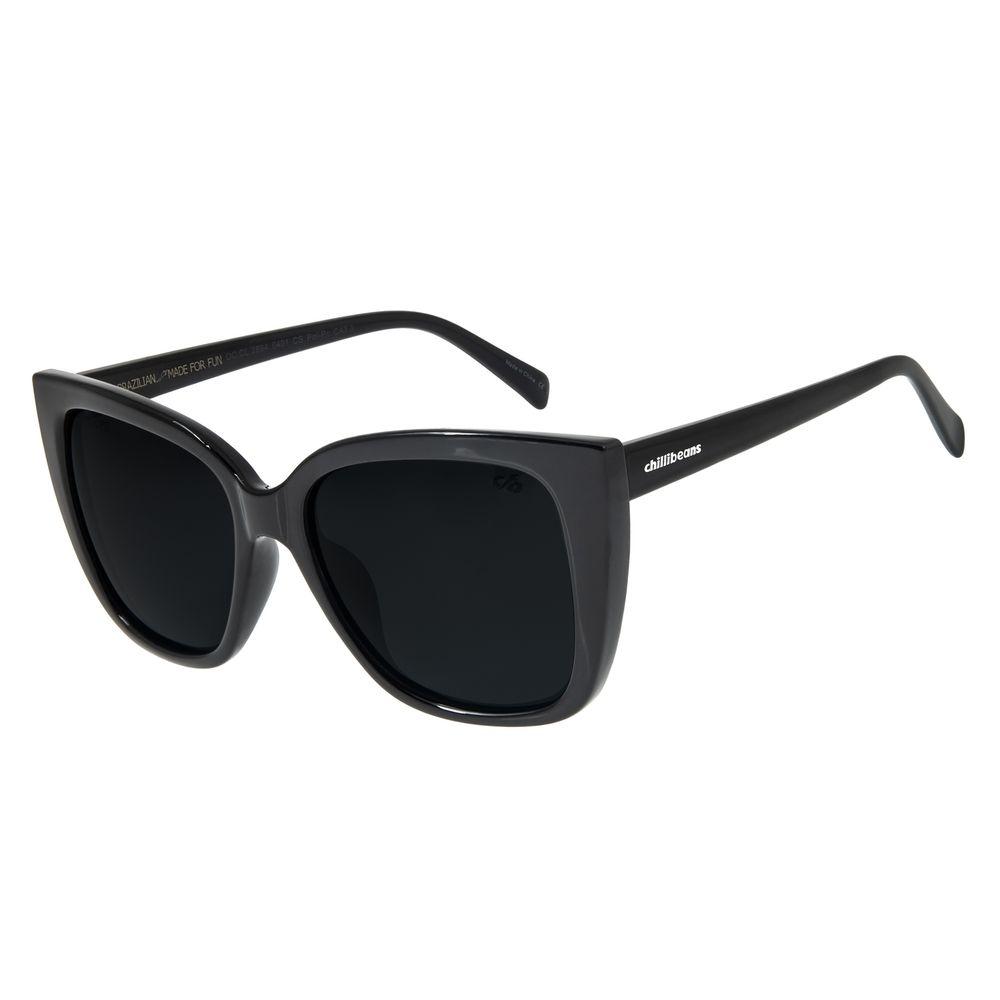 Óculos de Sol Feminino Chilli Beans Quadrado Polarizado Preto OC.CL.2884-0401