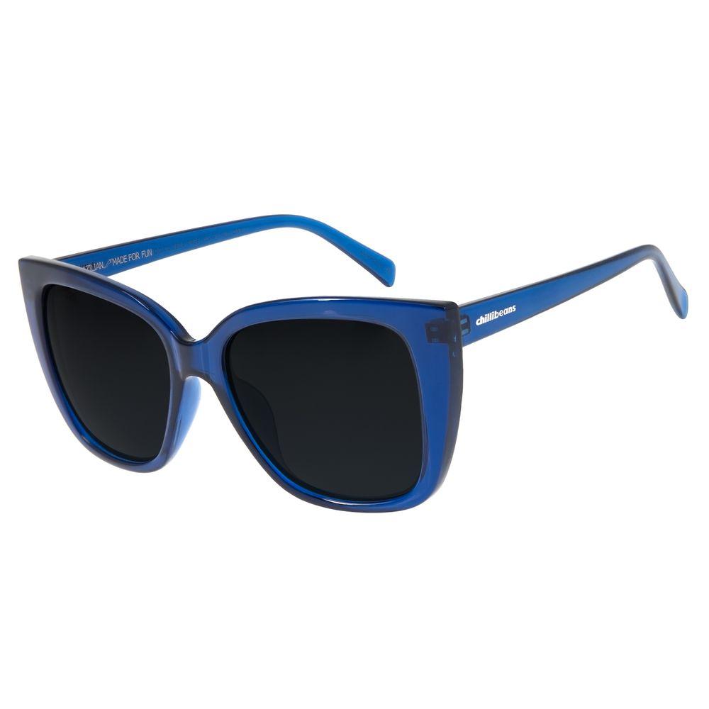 Óculos de Sol Feminino Chilli Beans Quadrado Polarizado Azul OC.CL.2884-0408