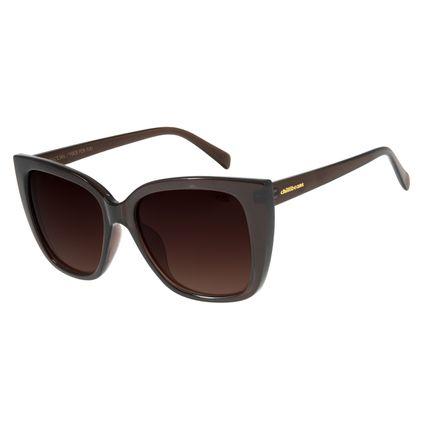 Óculos de Sol Feminino Chilli Beans Quadrado Polarizado Marrom OC.CL.2884-2002