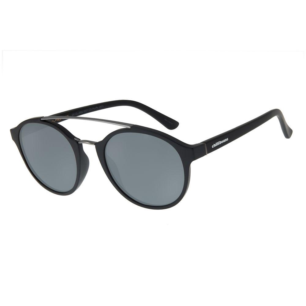 Óculos de Sol Unissex Chilli Beans Redondo PretoOC.CL.2892-0001
