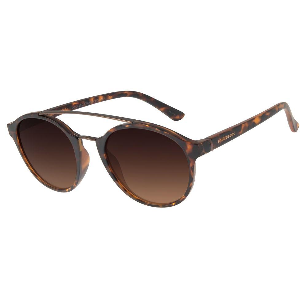 Óculos de Sol Unissex Chilli Beans Redondo Tartaruga OC.CL.2892-5706
