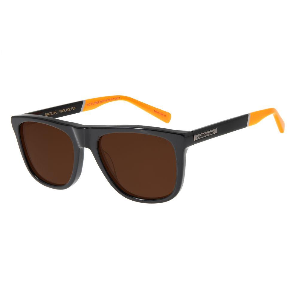 Óculos de Sol Masculino Chilli Beans Bossa Nova Polarizado Marrom OC.CL.2904-0201