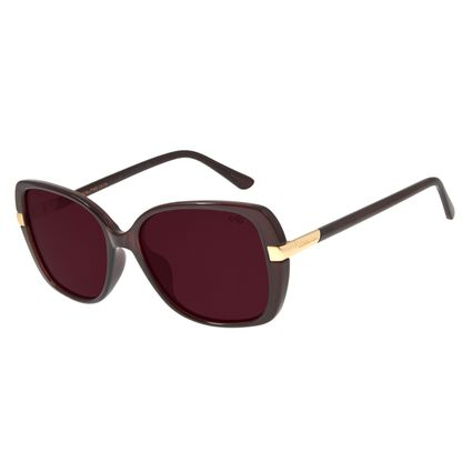 Óculos de Sol Feminino Chilli Beans Quadrado Vinho Polarizado OC.CL.2905-1717