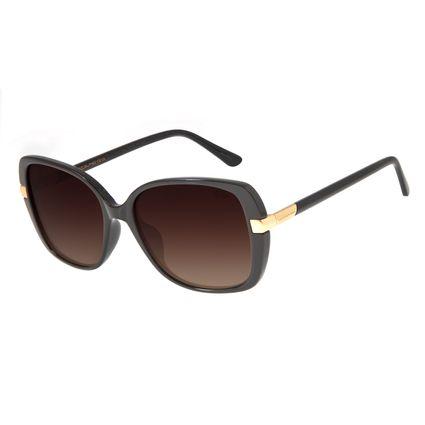 Óculos de Sol Feminino Chilli Beans Quadrado Marrom Polarizado OC.CL.2905-5702