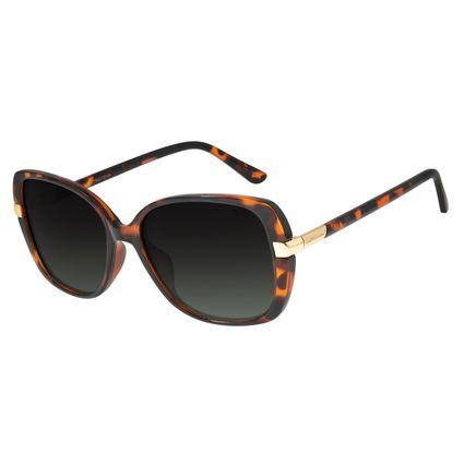Óculos de Sol Feminino Chilli Beans Quadrado Tartaruga Polarizado OC.CL.2905-8206