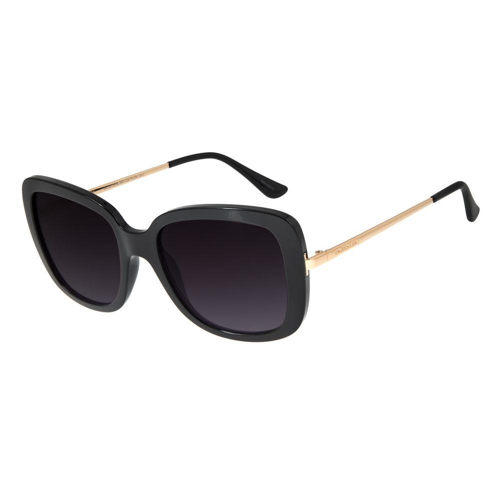 Óculos de Sol Feminino Chilli Beans Essential Quadrado Classic Preto OC.CL.2936-2001