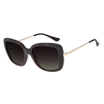 Óculos de Sol Feminino Chilli Beans Essential Quadrado Classic Tartaruga OC.CL.2936-8206