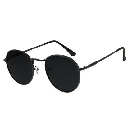 Óculos de Sol Unissex Chilli Beans Redondo Preto Polarizado OC.MT.2679-0101