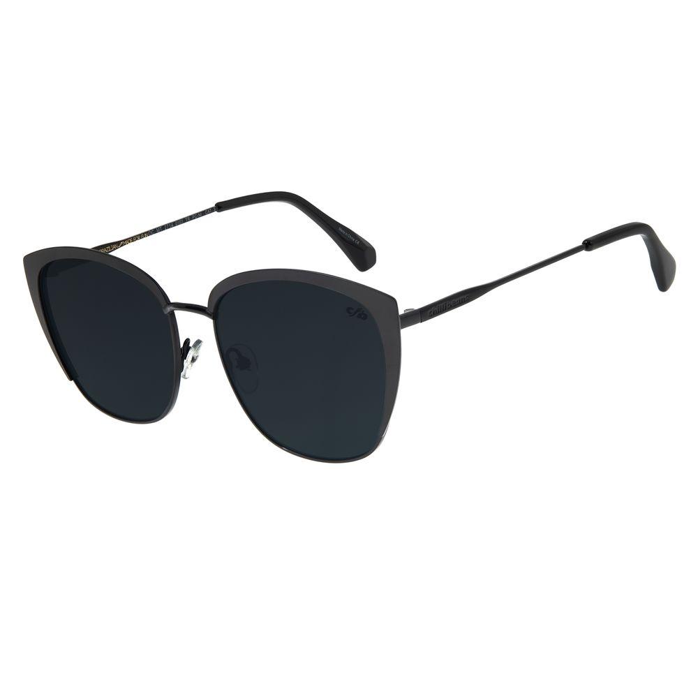 Óculos de Sol Feminino Chilli Beans Quadrado Metal Preto OC.MT.2714-0101