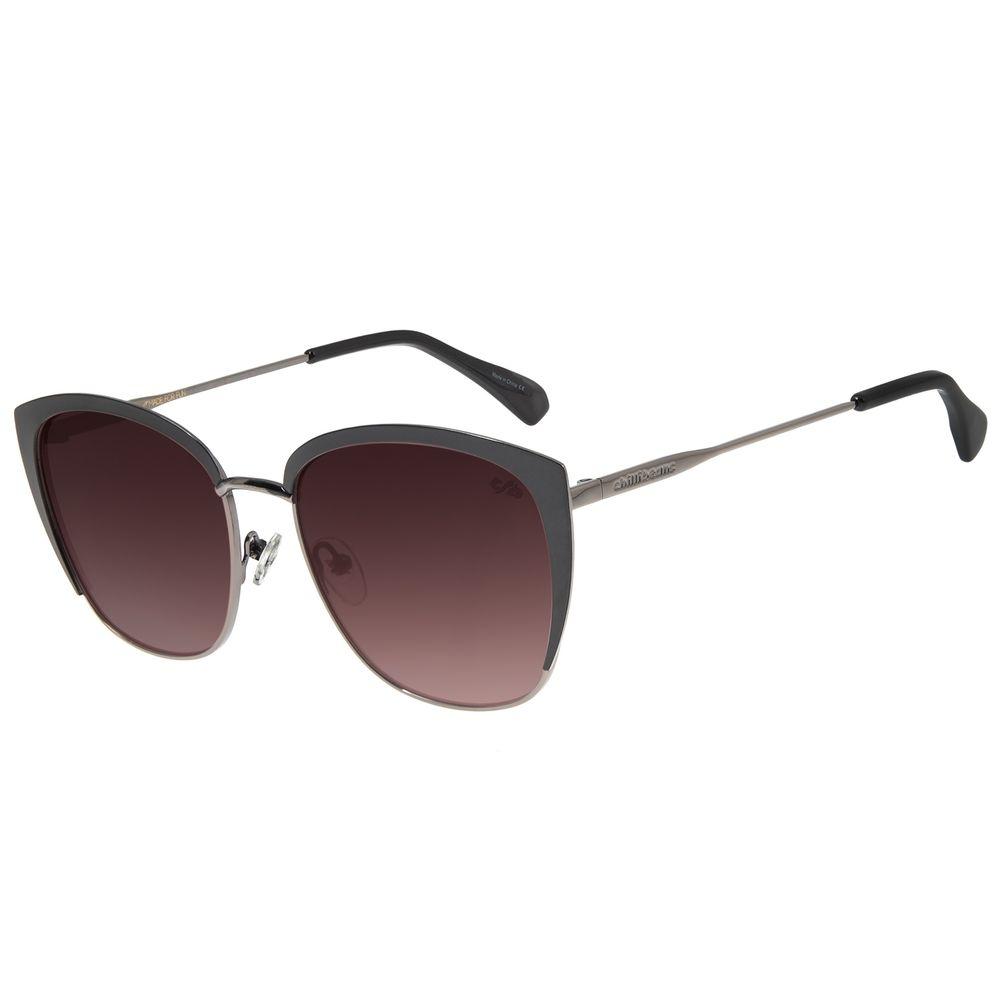 Óculos de Sol Feminino Chilli Beans Quadrado Metal Brilho OC.MT.2714-2030