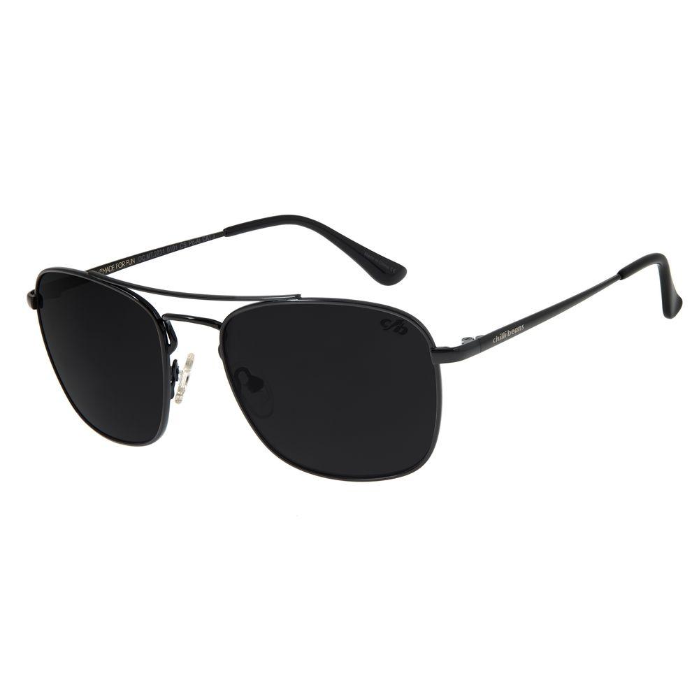 Óculos de Sol Masculino Chilli Beans Executivo Preto OC.MT.2731-0101