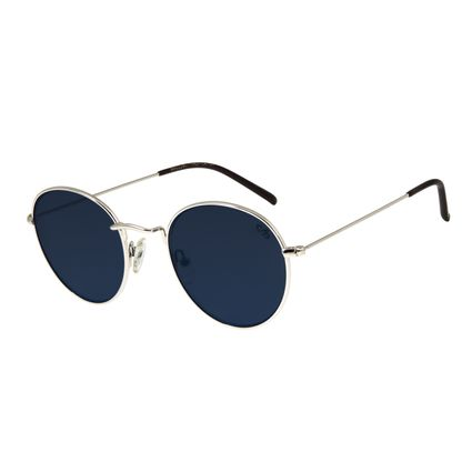 Óculos de Sol Unissex Chilli Beans Redondo Metal Prata OC.MT.2738-0807