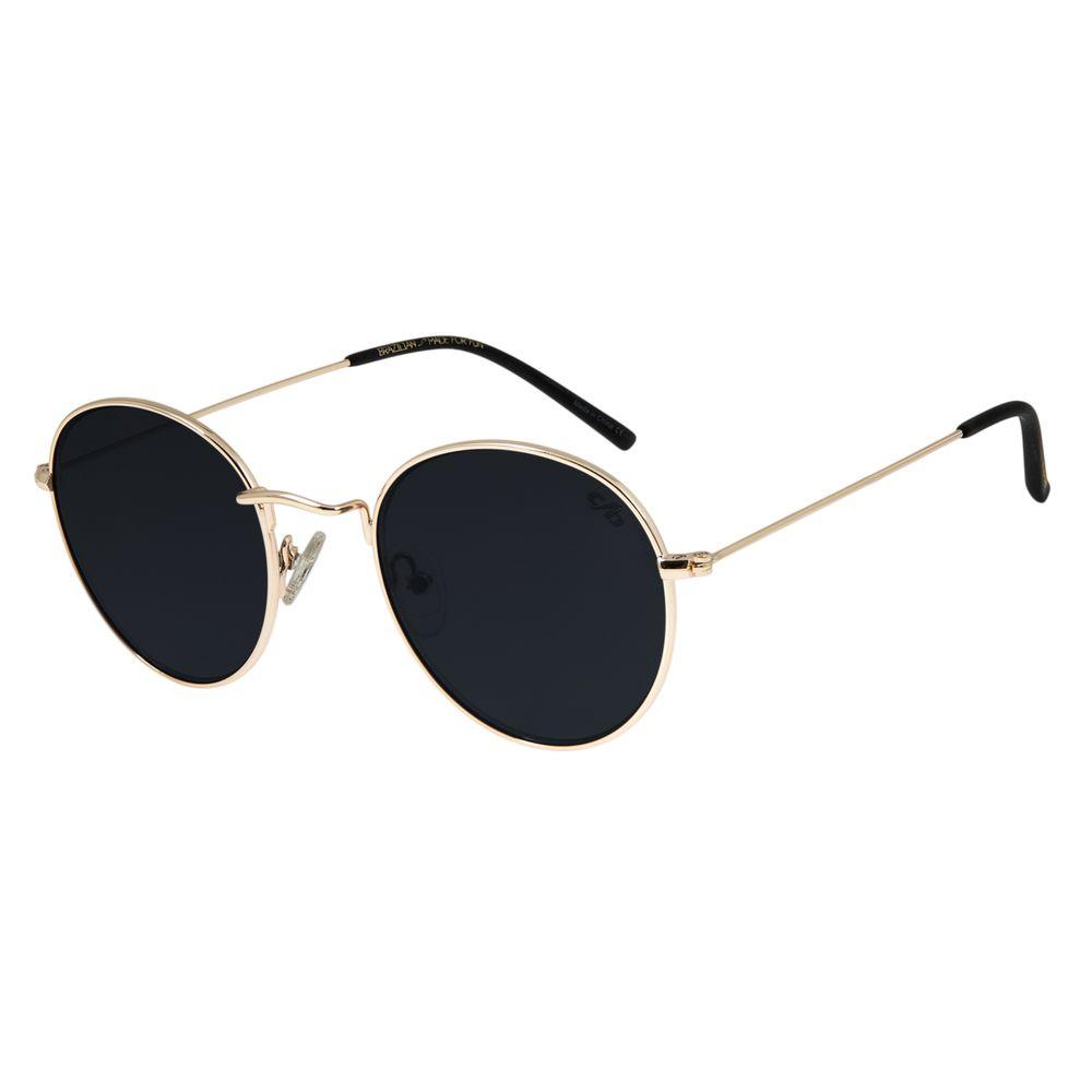 Óculos de Sol Unissex Chilli Beans Redondo Metal Dourado OC.MT.2738-0121