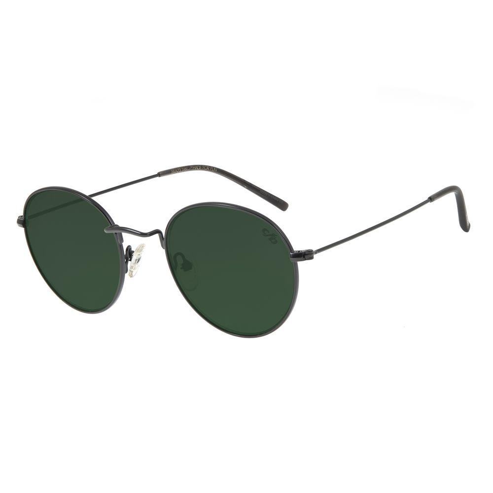 Óculos de Sol Unissex Chilli Beans Redondo Metal Preto OC.MT.2738-1501