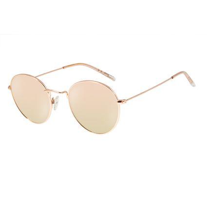 Óculos de Sol Unissex Chilli Beans Redondo Metal Rosê OC.MT.2738-9595