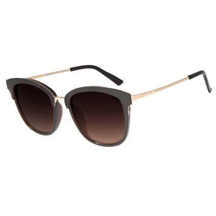 Óculos de Sol Feminino Chilli Beans Redondo Metal Marrom OC.MT.2765-5702