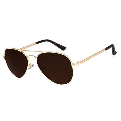 Óculos de Sol Unissex Chilli Beans Aviador Clássico Dourado OC.MT.2766-0221